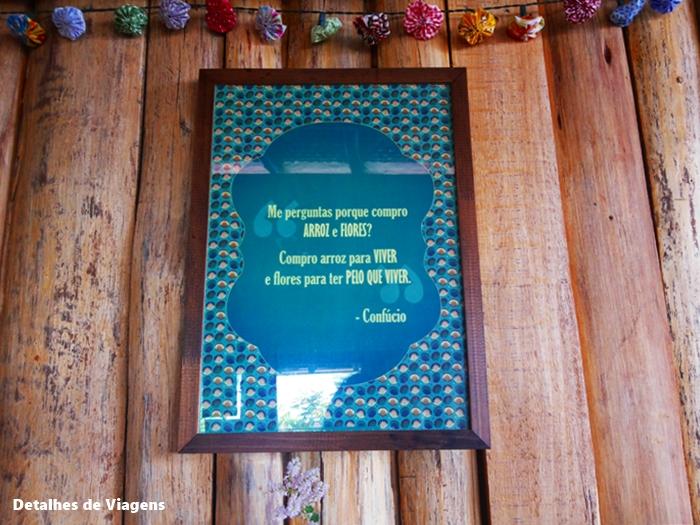 decoraçao quadrinho mensagem arroz e flor