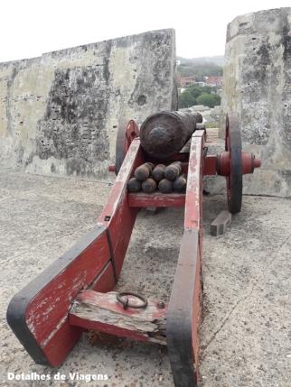 castillo san felipe de barajas canhao