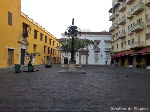 plaza santo domingo cartagena colombia roteiro dicas viagem