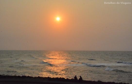 Por do sol cartagena colombia relatos viagem
