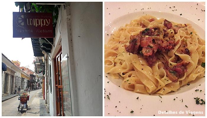 restaurante italiano cartagena wippy roteiro viagem dicas