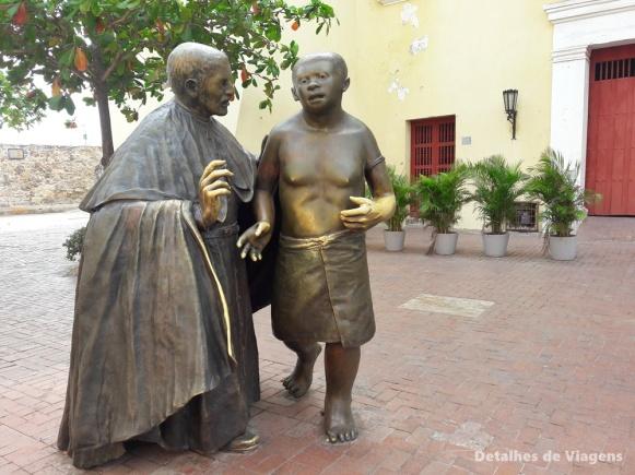 escultura san pedro claver cartagena