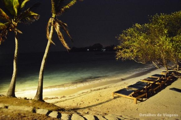 isla grande cartagena noite gente de mar resort