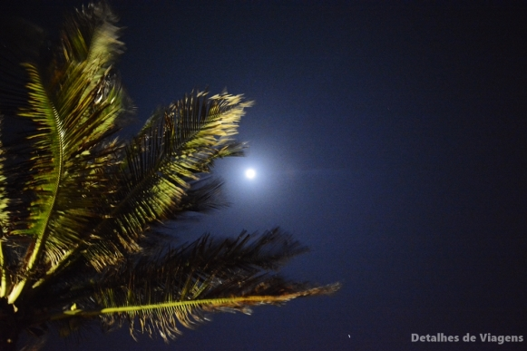 luar lua ilha cartagena isla grande noite