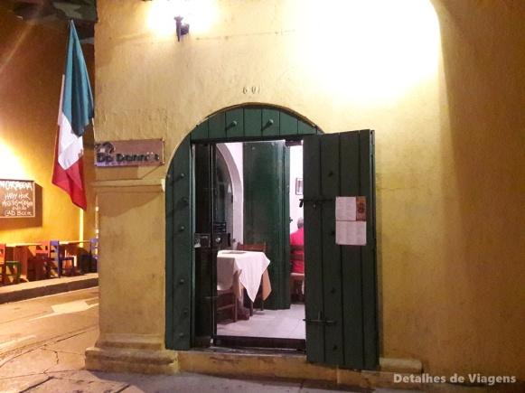 onde comer cartagena ciudad amurallada restaurante italiano