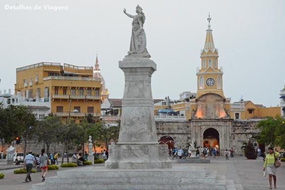 plaza de la paz cartagena roteiro