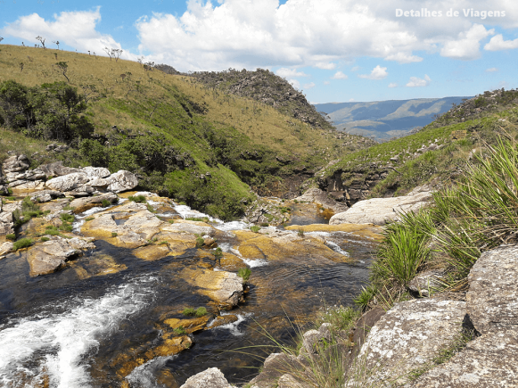 parte alta parque nacional serra da canastra rio sao francisco garganta