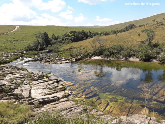 parte alta parque nacional serra da canastra rio sao francisco piscina natural