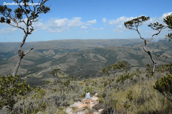 parte alta parque nacional serra da canastra vista trilha 2