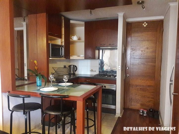 apartamento cozinha santiago chile onde ficar centro bairro lastarria relatos viagem