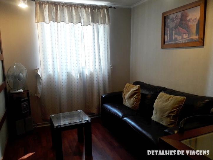 apartamento sala santiago centro bairro lastarria onde ficar relatos viagem