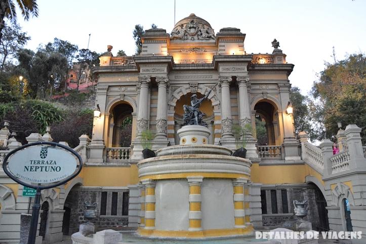 cerro santa lucia terraza neptuno santiago centro pontos turisticos bairro lastarria o que fazer santiago relatos viagem