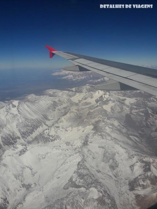 cordilheira andes neve vista aviao santiago lado esquerdo