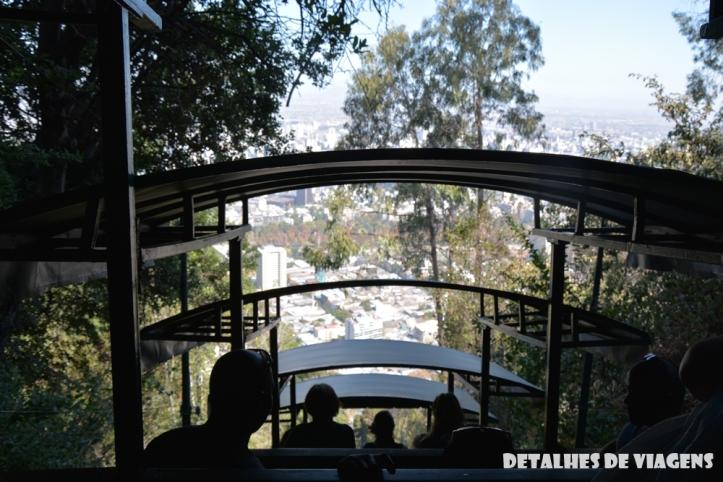 funicular cerro san cristobal santiago chile 2