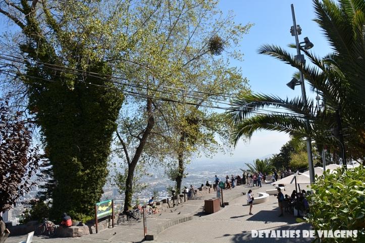 mirante cerro san cristobal santiago pontos turisticos o que vistar relatos de viagem