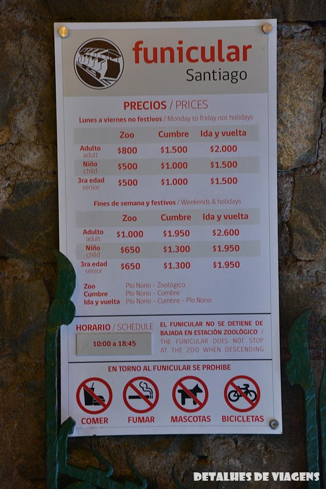 preço funicular cerro san cristobal santiago relatos viagem