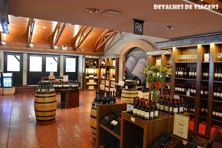 vinicola concha y toro loja vinho tour enoturismo relatos viagem santiago chile