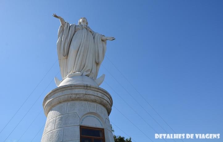 Virgen de la Inmaculada Concepción cerro san cristobal santiago chile pontos turisticos o que fazer relatos viagem 2