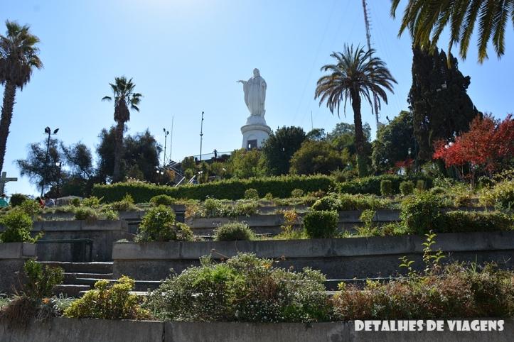 Virgen de la Inmaculada Concepción cerro san cristobal santiago chile pontos turisticos o que fazer relatos viagem
