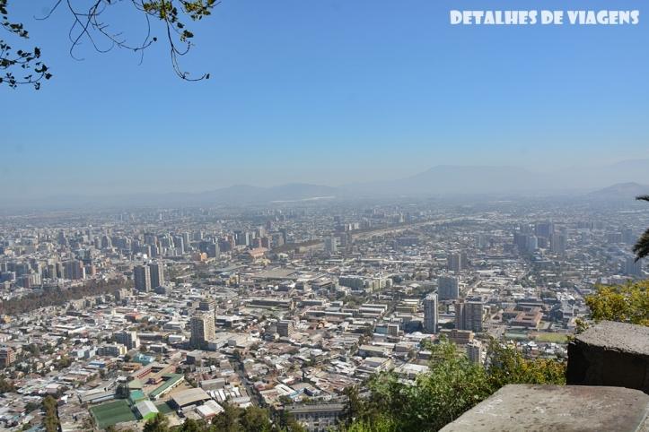 vista cidade santiago cerro san cristobal relatos viagem