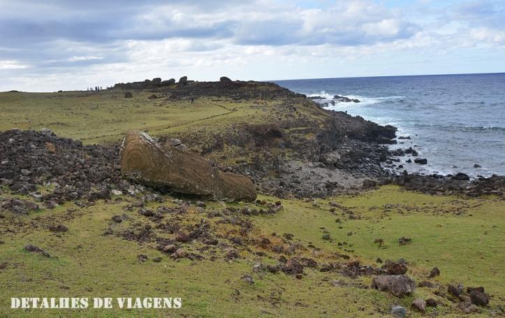 ahu akahanga moai caido ilha de pascoa sitios arqueologicos roteiro atraçoes pontos turisticos