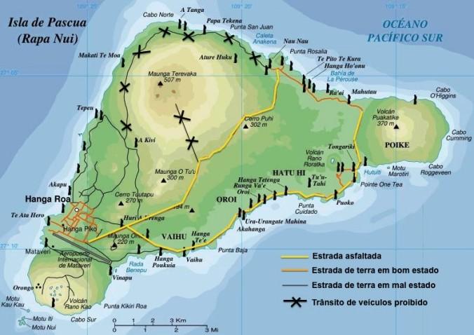 Condições das estradas ilha de pascoa roteiro relatos viagem