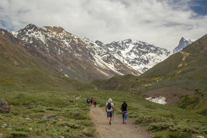 monumento nacional el morado trekking trilhas chile santiago 2