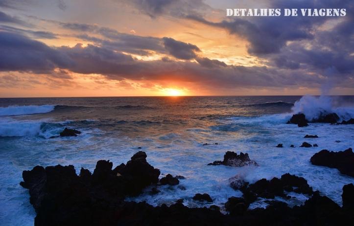 por do sol ilha de pascua mar relatos viagem rapa nui